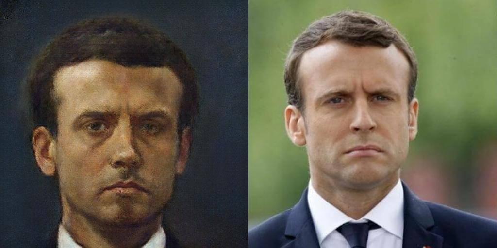 Portrait of Emmanuel Macron by Portrait AI